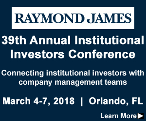 Raymond James Institutional Investors Conference, institutional investors, Investors Conference