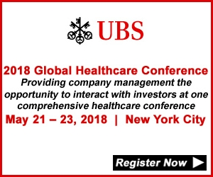 UBS Global Healthcare Conference 2018